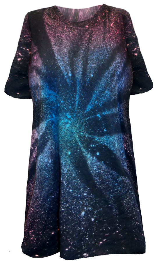 300289eaf8a6c Galaxy Space Black Burst Tie Dye Plus Size Short Sleeve or Long Sleeve  T-Shirt L XL 2x 3x 4x 5x 6x