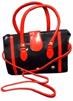 SOLD OUT! Black & Red Fashion Trend Clutch Style Bag with Shoulder Strap