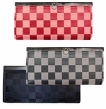 NEW! Black, Red or Gray Checkered Wallets