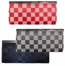 SOLD OUT! NEW! Black, Red or Gray Checkered Wallets