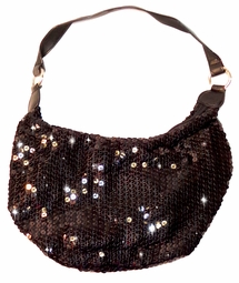 SOLD OUT! SALE! Black Sequin Shiny Handbag