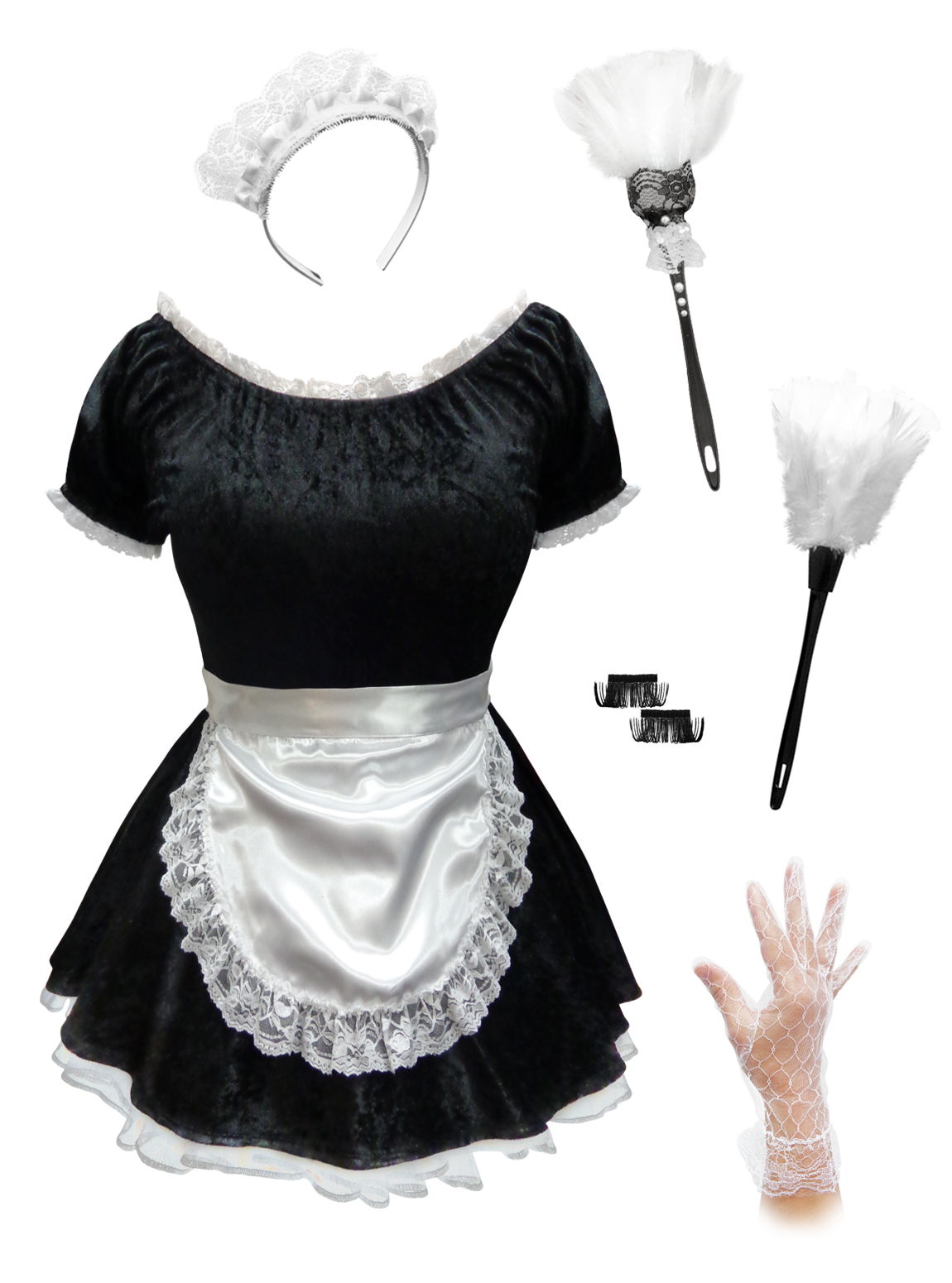 SALE! Black & White Sexy Plus Size French Maid Costume ...