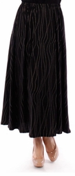 SOLD OUT! SALE! Pretty Black With Silver Pin Dot Plus Size Maxi Skirt 4x