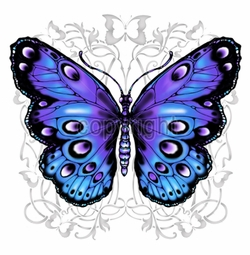 SALE! Blue and Purple Butterfly Plus Size & Supersize T-Shirts S M L XL 2x 3x 4x 5x 6x 7x 8x 9x (All Colors)