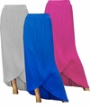 SOLD OUT! Blue, Fuschia, or Gray Long Plus Size Tulip Skirt