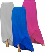 SALE!  Blue, Fuschia, or Gray Long Plus Size Tulip Skirt 4X-30/32