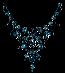 SALE! Turquoise Necklace Neckline Sparkly Rhinestuds Plus Size & Supersize T-Shirts S M L XL 2x 3x 4x 5x 6x 7x 8x 9x (All Colors)