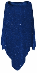 SALE! Blue Sheer Glitter Slinky Plus Size Supersize Poncho