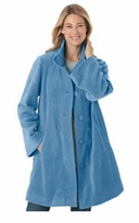 SOLD OUT! Blue Swing Style Fleece Plus Size Cozy Jacket 5x 6x