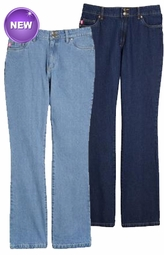 SOLD OUT! Bootcut Fit Flare Elastic In Back Plus Size Denim Jeans Indigo