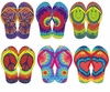 FINAL CLEARANCE SALE! Bright Colorful Tie Dye Peace Heart Smiley Rainbow Flip Flop Shoes S