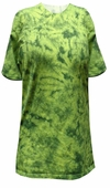 SALE! Bright Lime Green With Dark Green Tie Dye Plus Size T-Shirt XL 2x 3x 4x 5x 6x