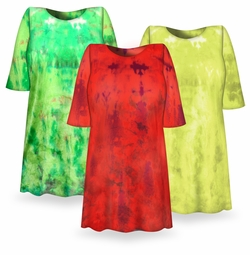 SALE! Bright NEON Yellow, Green or Watermelon Red Tie Dye Plus Size T-Shirts 4x 5x 6x