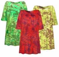 SALE! Bright NEON Yellow, Lime Green or Watermelon Red Tie Dye Plus Size T-Shirts 4x 5x 6x