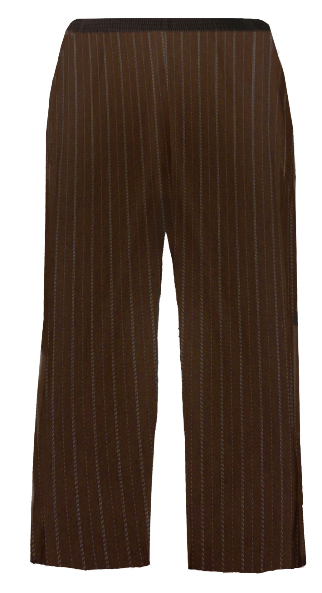 SOLD OUT! SALE! Brown Pinstripe Plus Size Business Dress Pants 5x/36W
