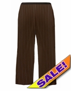 SALE! Brown Pinstripe Plus Size Business Dress Pants 5x/36W
