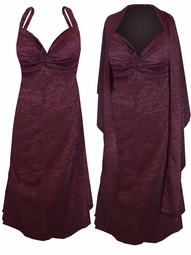 SOLD OUT! SALE!  Customizable Burgundy Slinky w/ Silver Glimmer - Plus Size & SuperSize Princess Seam Dress Set 0x 1x 2x 3x 4x 5x 6x 7x 8x 9x
