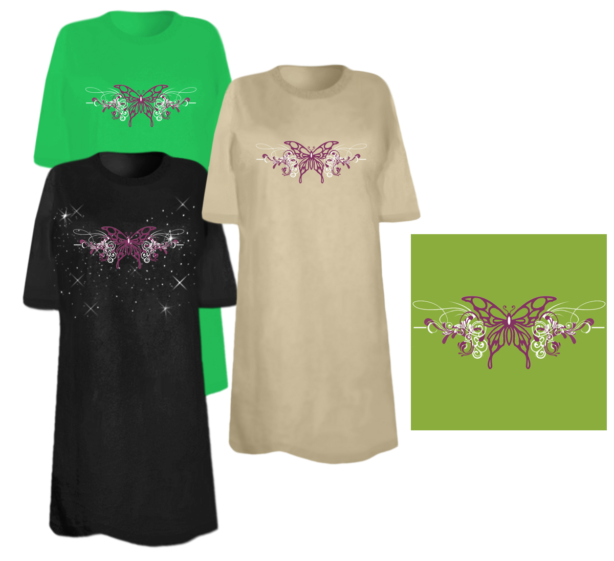 Sale Butterfly Rhinestone Studs Plus Size Supersize T