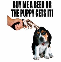 SALE! Buy Me A Beer Or The Puppy Gets It Plus Size & Supersize T-Shirts S M L XL 2x 3x 4x 5x 6x 7x 8x (All Colors)