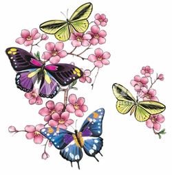 SALE! Cherry Blossom Butterflies Plus Size & Supersize T-Shirts S M L XL 2x 3x 4x 5x 6x 7x 8x 9x (All Colors)