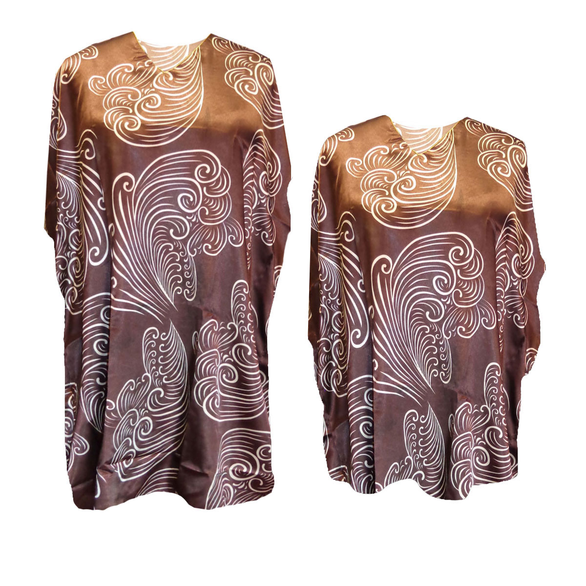 SOLD OUT! Chocolate Brown With Swirls Print Plus Size ...