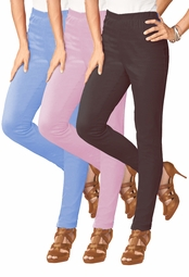 FINAL CLEARANCE SALE! Periwinkle Blue Plus Size Straight Leg Style Legging Pants 30T