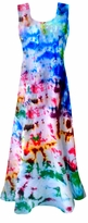SALE! Color Splash Tie Dye Princess Cut Tank Plus Size & Supersize Dress 0x 1x 2x 3x 4x 5x 6x 7x 8x