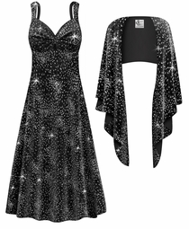 NEW! Customizable 2-Piece Glittery Fireworks Slinky Plus Size SuperSize Princess Seam Dress Set 0x 1x 2x 3x 4x 5x 6x 7x 8x
