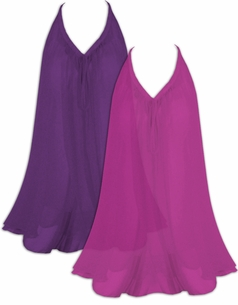 SALE! Beautiful Fuchsia or Dark Purple Semi Sheer A-Line Overshirt Supersize & Plus Size Tops 0x 1x 2x 3x 4x 5x 6x 7x 8x