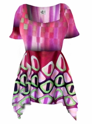 SOLD OUT! Customizable! Beautiful Colorful Slinky Print Supersize & Plus Size Babydoll Tops 0x 1x 2x 3x 4x 5x 6x 7x 8x