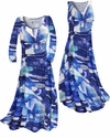 SOLD OUT! CLEARANCE! Blue Naga Marshes Slinky Plus Size Princess Cut Dress XL