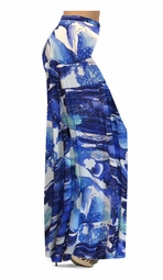 SOLD OUT! SALE! Blue Naga Marshes Slinky Print Special Order Plus Size & Supersize Pants, Capri's, Palazzos or Skirts! Lg XL 1x 2x 3x 4x 5x 6x 7x 8x 9x