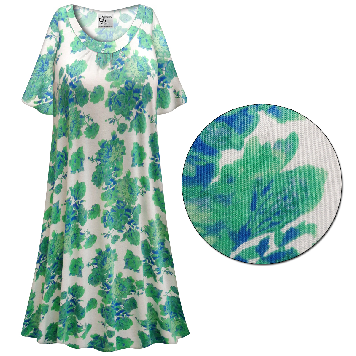 SOLD OUT! SALE! Customizable Green Roses Print Plus Size & SuperSize ...
