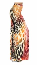 SOLD OUT! Customizable Hot Pink & Brown Leopard Slinky Print Special Order Customizable Plus Size & Supersize Pants, Capri's, Palazzos or Skirts! Lg to 9x