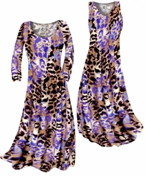 SOLD OUT! Indigo Wild Animal Skin Print Slinky Plus Size & Supersize Standard or Cascading A-Line or Princess Cut Dresses & Shirts, Jackets, Pants, Palazzo's or Skirts Lg to 9x