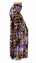 SOLD OUT! Indigo Wild Animal Skin Print Slinky Special Order Customizable Plus Size & Supersize Pants, Capri's, Palazzos or Skirts! Lg to 9x