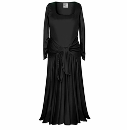 Customizable Long Sleeve Plus Size & Supersize Black Slinky Evening Gown Dresses Lg XL 1x 2x 3x 4x 5x 6x 7x 8x