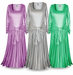 Customizable Long Sleeve Plus Size & Supersize Shimmer Evening Gown Dresses Lg XL 1x 2x 3x 4x 5x 6x 7x 8x