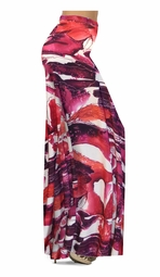 CLEARANCE! Maroon Red Naga Marshes Slinky Print Special Order Plus Size & Supersize Pants, Capri's, Palazzos or Skirts! 2x