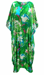SALE! Customizable Plus Size Bora Bora Satiny Print Long Caftan Dresses or Tops 1x 2x 3x 4x 5x 6x 7x 8x