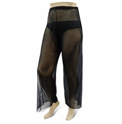 NEW! Customizable Plus Size Sheer Black Stretchy Pants - Swimsuit Coverup Sizes Lg XL 1x 2x 3x 4x 5x 6x 7x 8x 9x