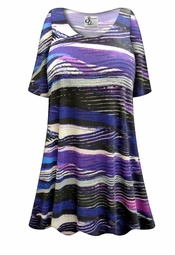 NEW! Customizable Purple Abstract Lines Plus Size & Supersize Extra Long T-Shirts 0x 1x 2x 3x 4x 5x 6x 7x 8x 9x!