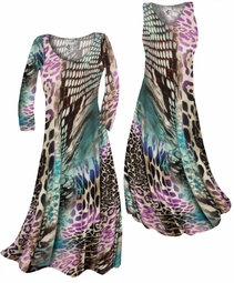 SOLD OUT! Customizable Purple Snakeskin Animalskin Print Slinky Plus Size & Supersize Standard or Cascading A-Line or Princess Cut Dresses & Shirts, Jackets, Pants, Palazzo's or Skirts Lg to 9x