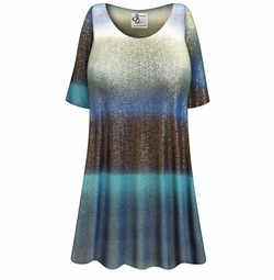 Customizable Tide Glimmer Slinky Print Plus Size & Supersize Short or Long Sleeve A-Line Shirts - Tunics - Tank Tops - Sizes Lg XL 1x 2x 3x 4x 5x 6x 7x 8x 9x
