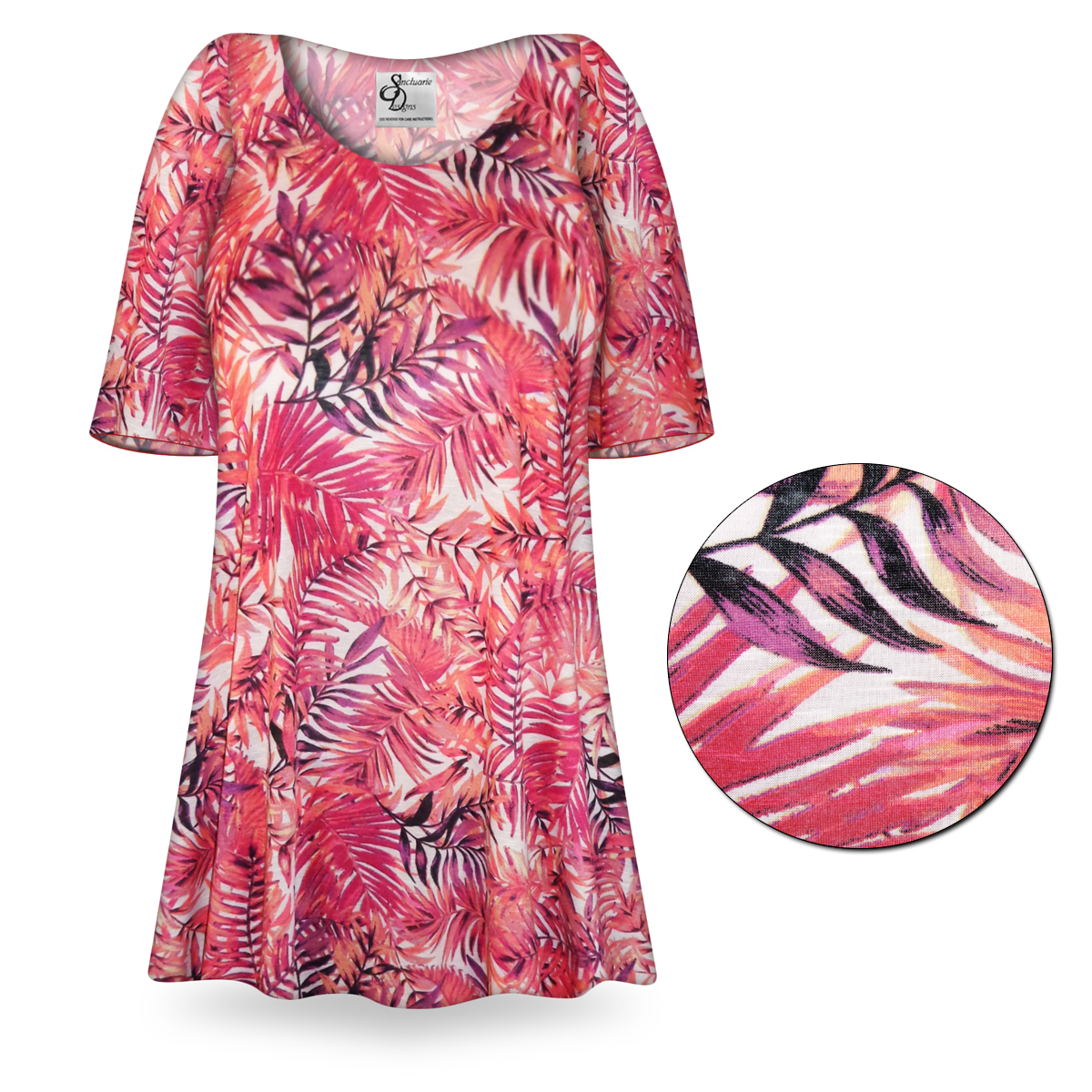Sale customizable tropical fern print plus size for 3x shirts on sale