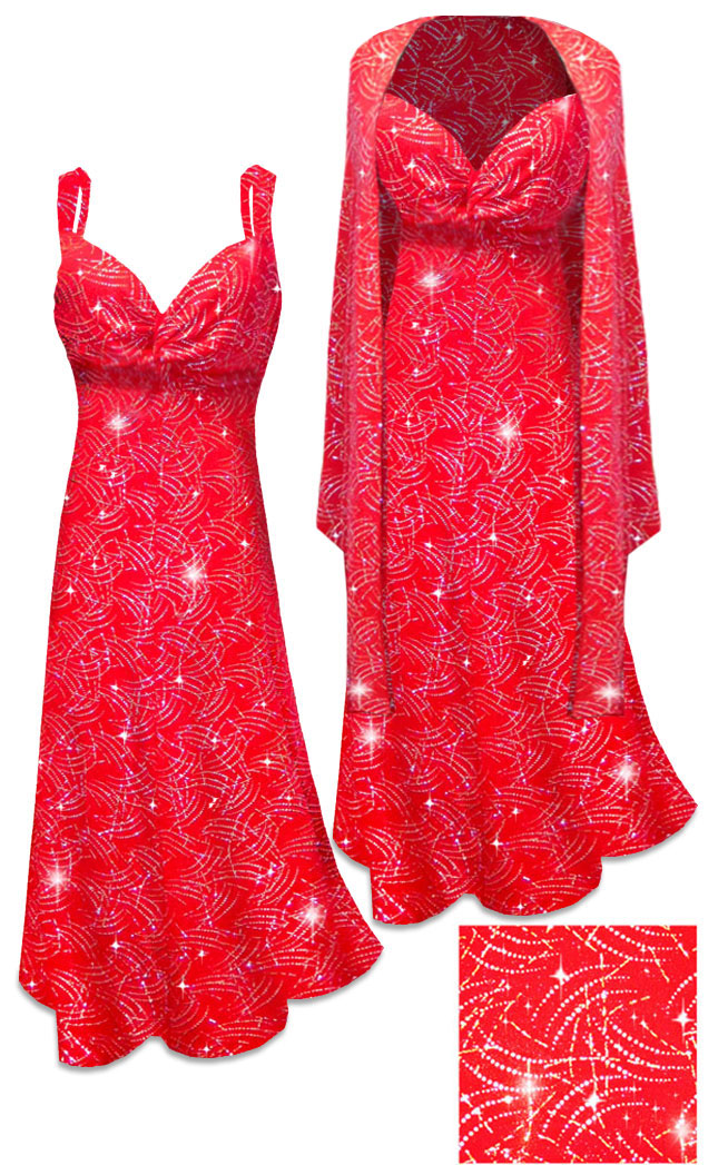 Sold Out New Customizable 2 Piece Red Slinky W Sparkly Silver