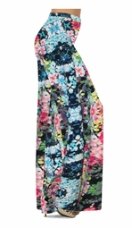 SOLD OUT! Customize Blue Alice's Garden Slinky Print Special Order Plus Size & Supersize Pants, Capri's, Palazzos or Skirts! Lg to 9x