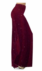 SOLD OUT! Customizable Burgundy With Glittery Gold Dots Slinky Print Plus Size & Supersize Palazzo Pants - Leggings - Capri's - Sizes Lg XL 1x 2x 3x 4x 5x 6x 7x 8x 9x