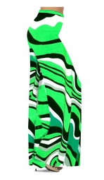 SOLD OUT! Fresh Green Swirls Slinky Print Special Order Plus Size & Supersize Pants, Capri's, Palazzos or Skirts! Lg to 9x