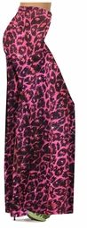 Customizable Red With Hot Pink Glittery Leopard Slinky Print Plus Size & Supersize Palazzo Pants - Sizes Lg XL 1x 2x 3x 4x 5x 6x 7x 8x 9x